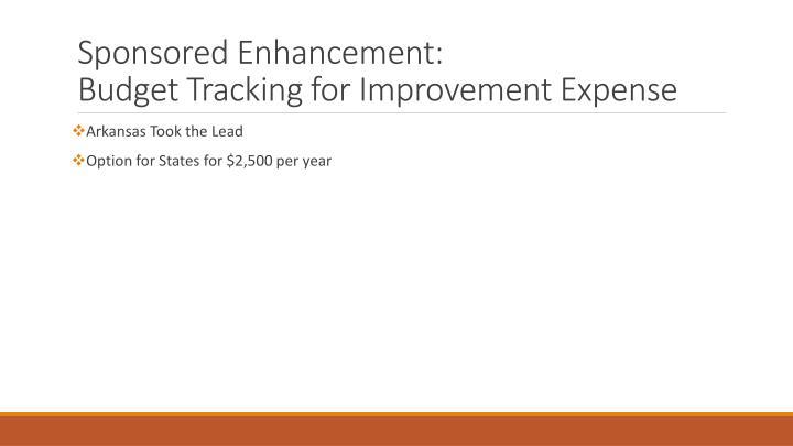 Sponsored Enhancement: