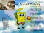 emotional and spiritual wellbeing