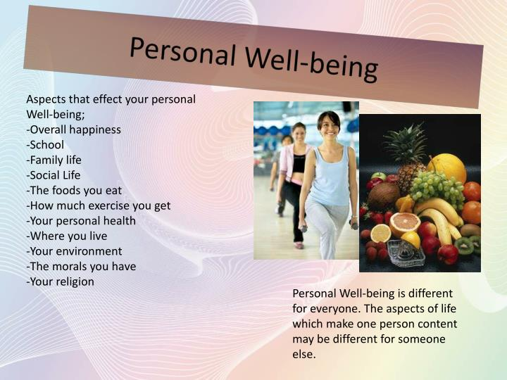 Personal well being