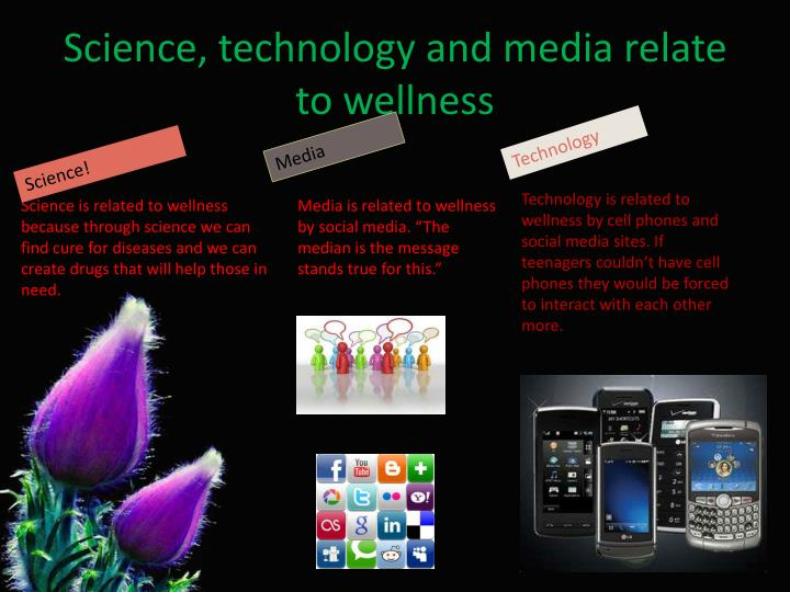Science, technology and media relate to wellness