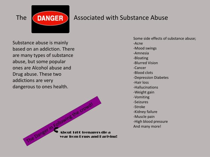 The                              Associated with Substance Abuse