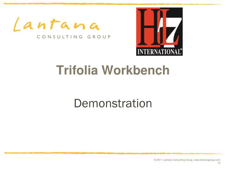 Trifolia Workbench