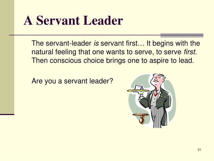 A Servant Leader
