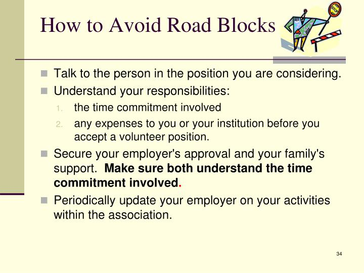 How to Avoid Road Blocks