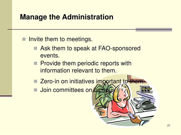Manage the Administration