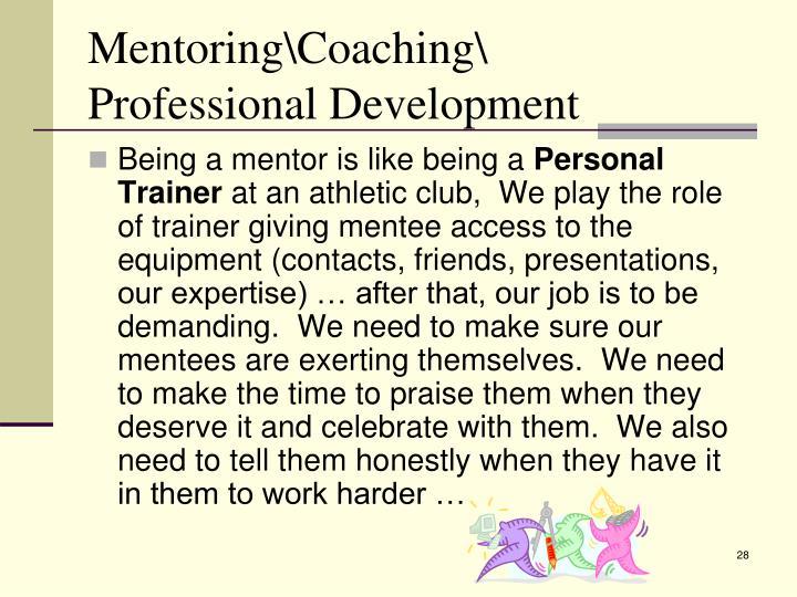 Mentoring\Coaching\