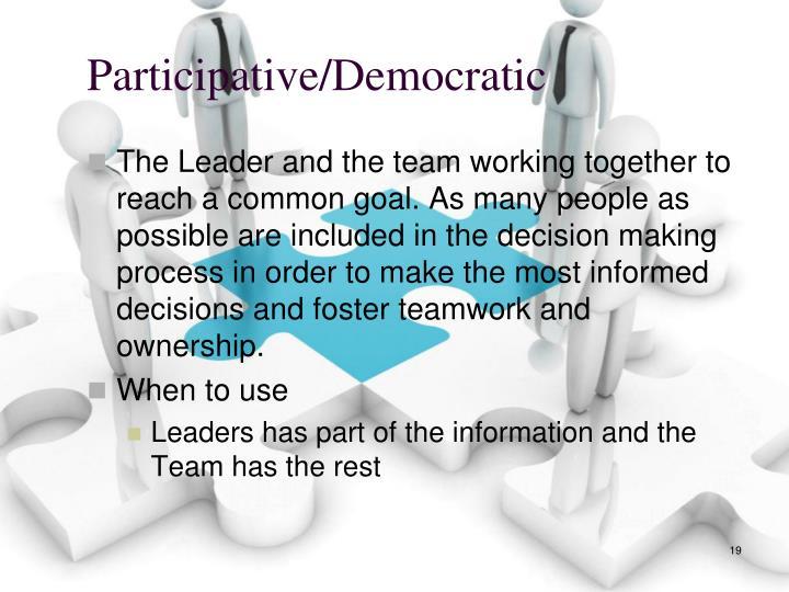 Participative/Democratic