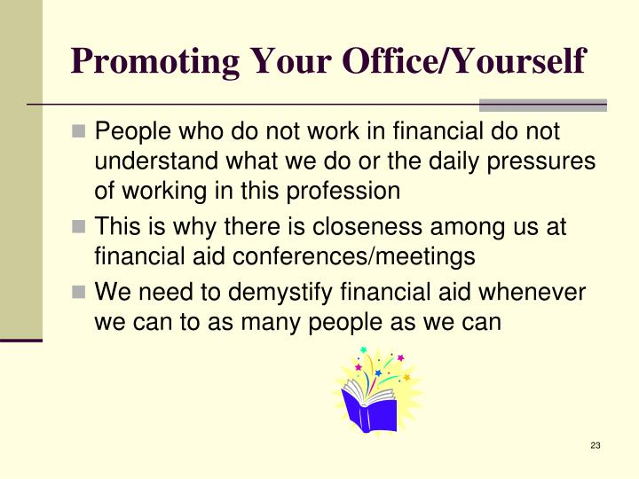 Promoting Your Office/Yourself
