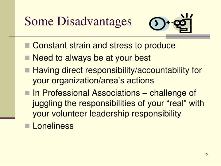 Some Disadvantages