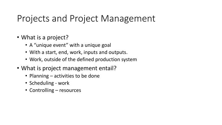 Project s and project management1