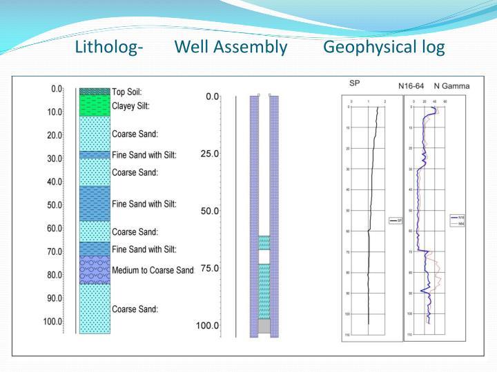Litholog- Well Assembly  Geophysical log