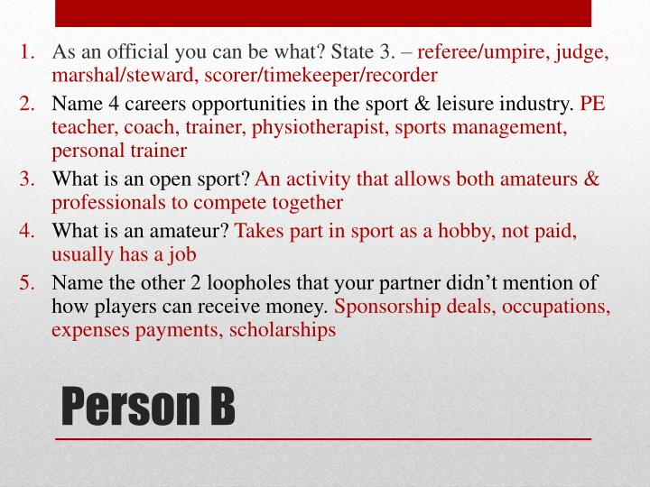 As an official you can be what? State 3. –