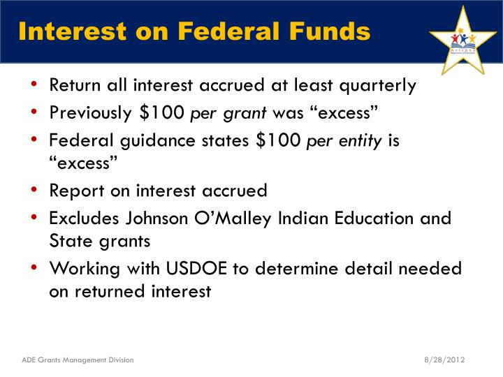 Interest on Federal Funds