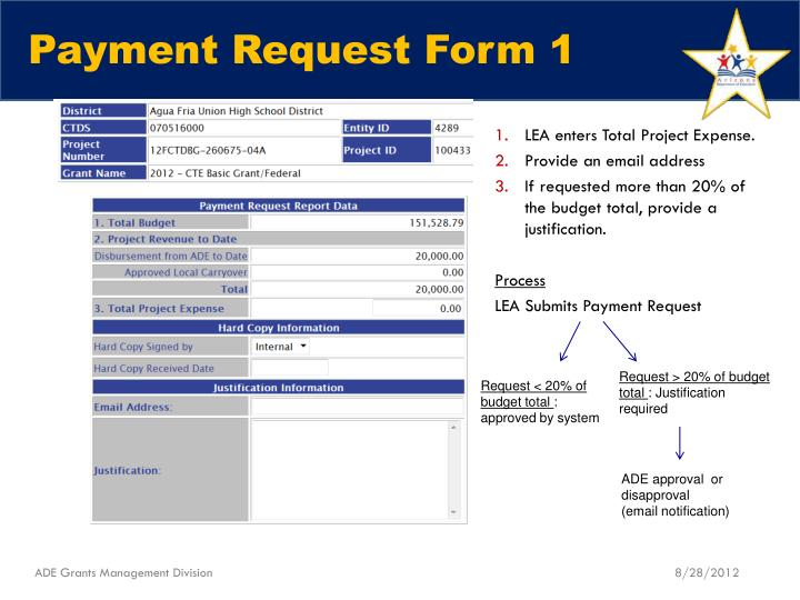 Payment Request Form 1