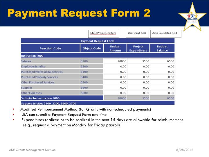Payment Request Form 2