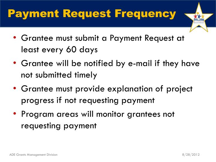 Payment Request Frequency