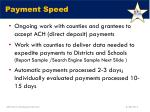 payment speed