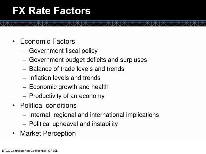 FX Rate Factors