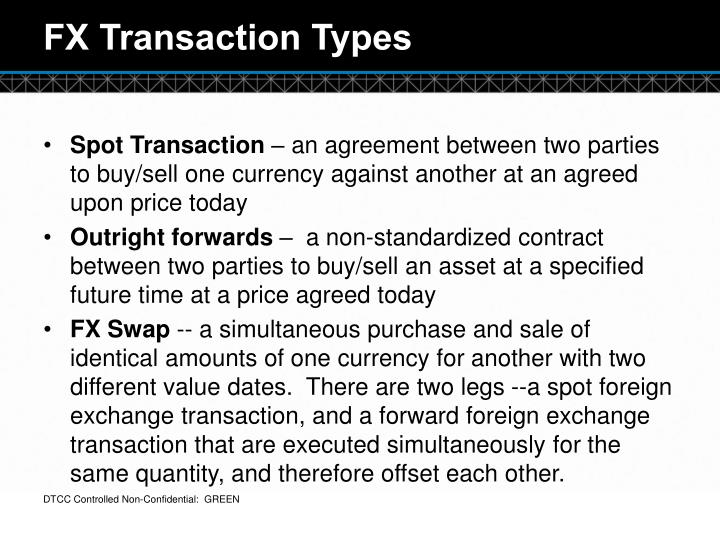 FX Transaction Types