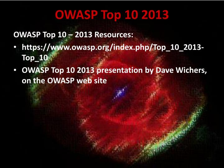 OWASP Top 10 2013