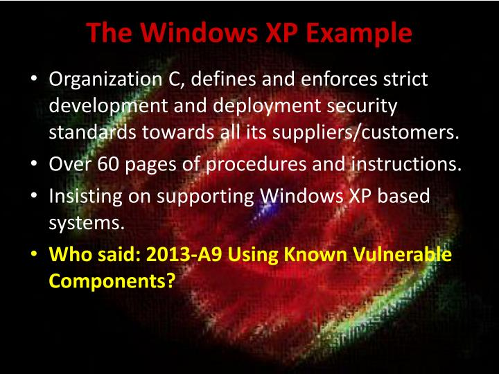 The Windows XP Example