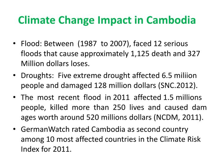 Climate change impact in cambodia