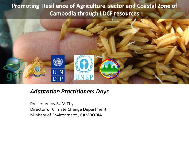 Promoting  Resilience of Agriculture  sector and Coastal