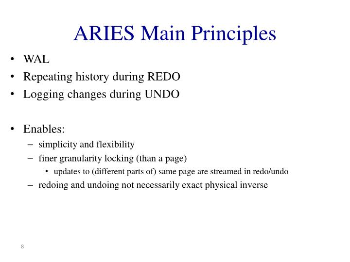 ARIES Main Principles