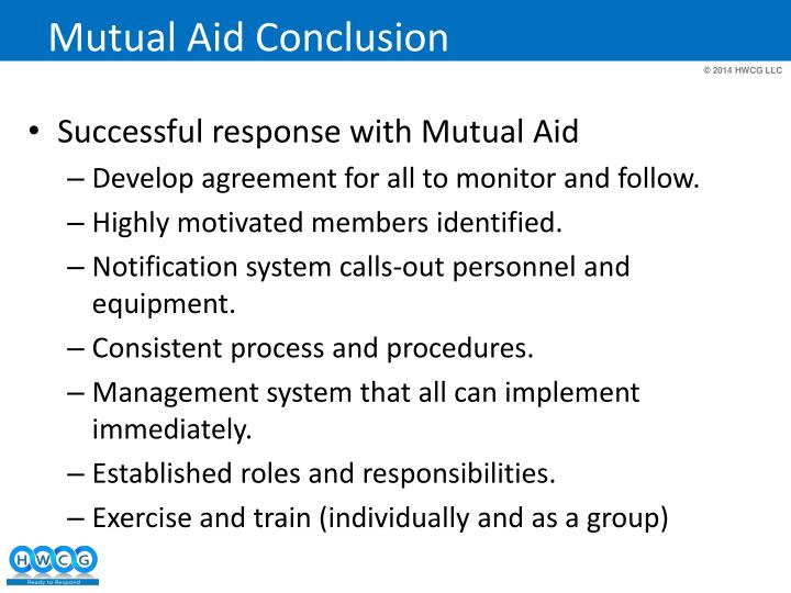 Mutual Aid Conclusion