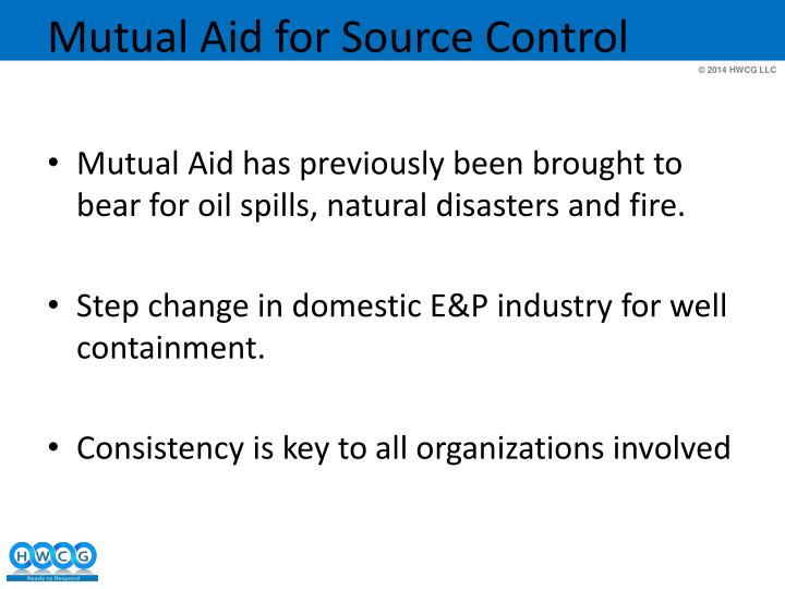 Mutual aid for source control