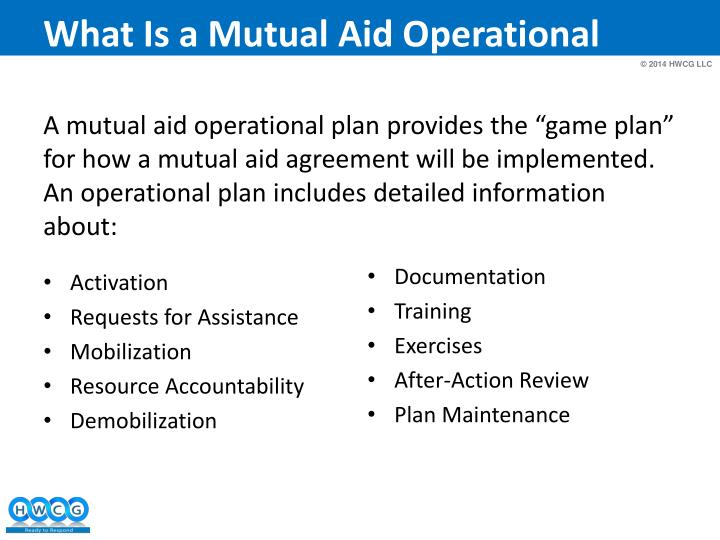 What Is a Mutual Aid Operational Plan?