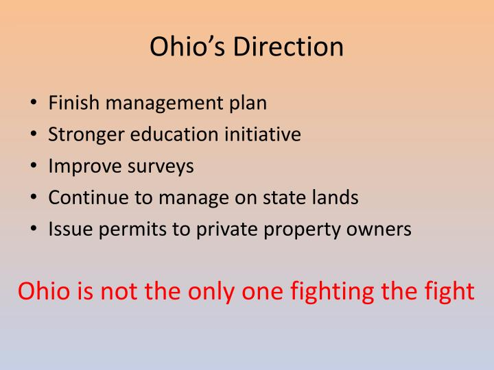 Ohio's Direction