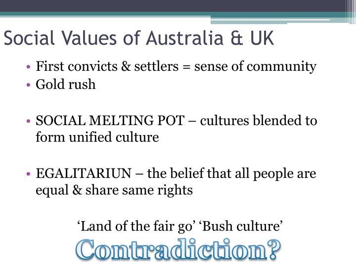 Social Values of Australia & UK