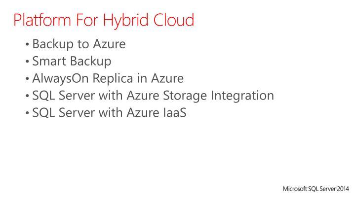 Platform For Hybrid Cloud