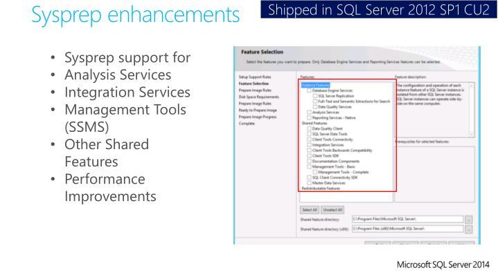 Shipped in SQL Server 2012 SP1 CU2