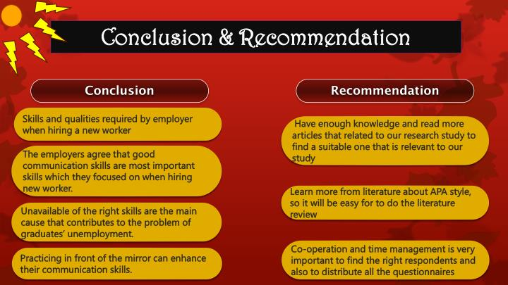 Conclusion & Recommendation