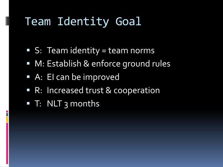 Team Identity Goal