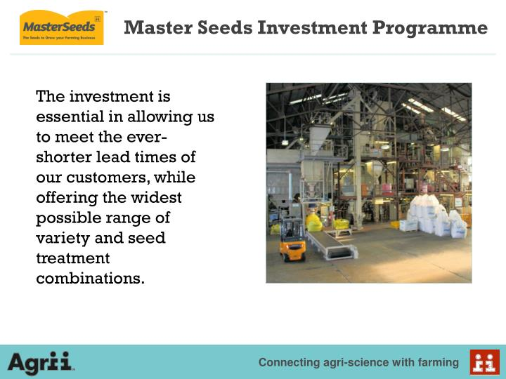 Master Seeds Investment Programme