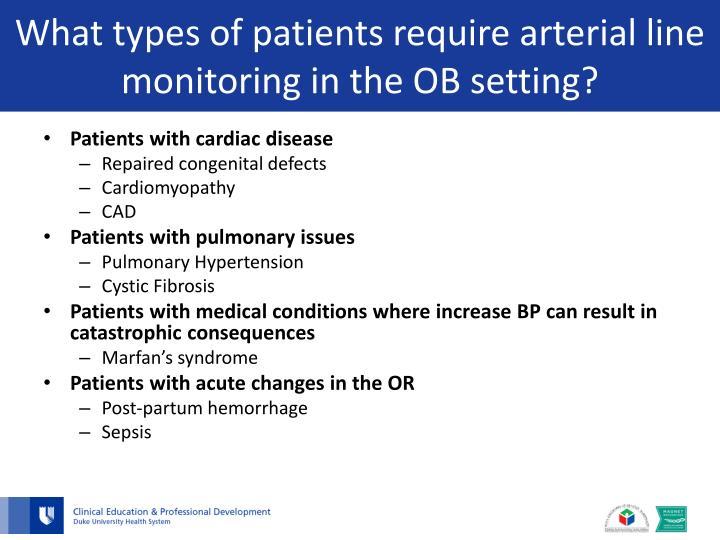 arterial line monitoring powerpoint presentation