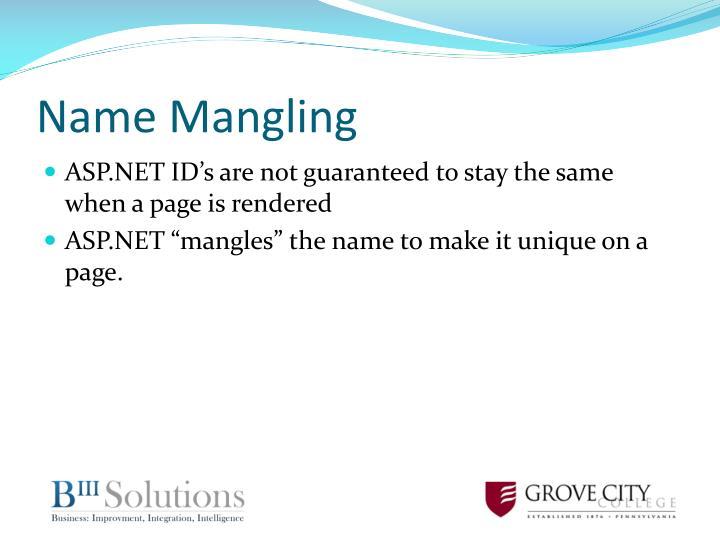Name Mangling