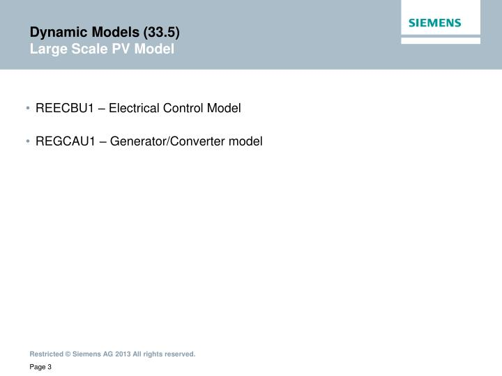 Dynamic Models (33.5)