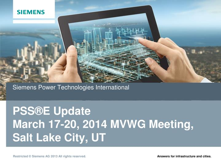 Siemens power technologies international