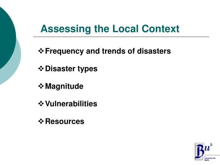 Assessing the Local Context