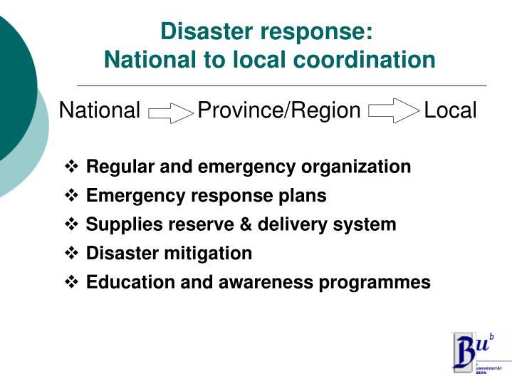 Disaster response: