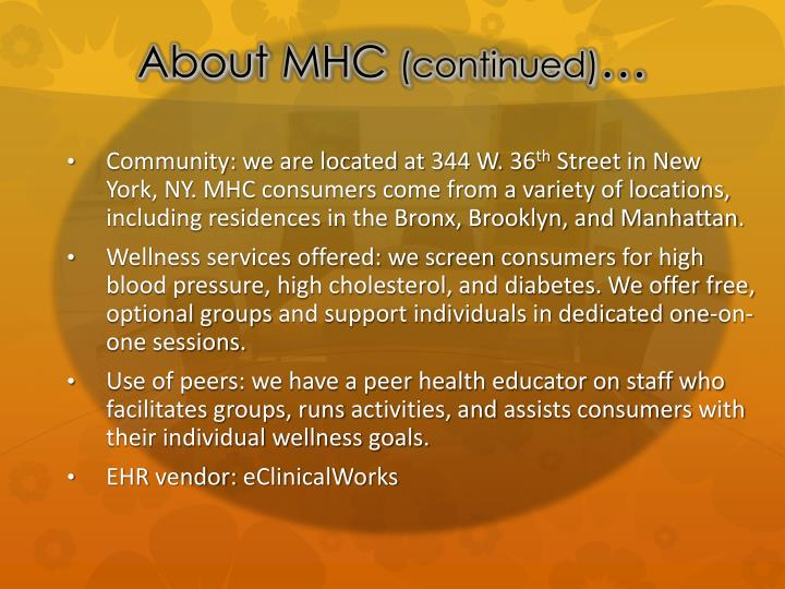 About MHC
