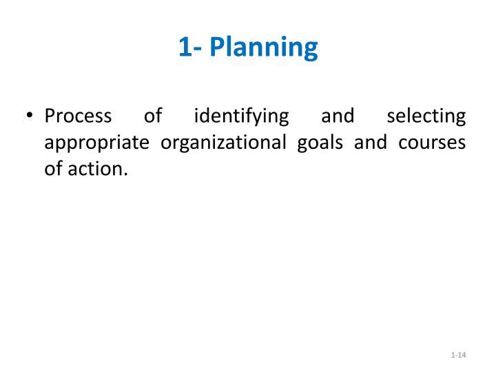 1- Planning