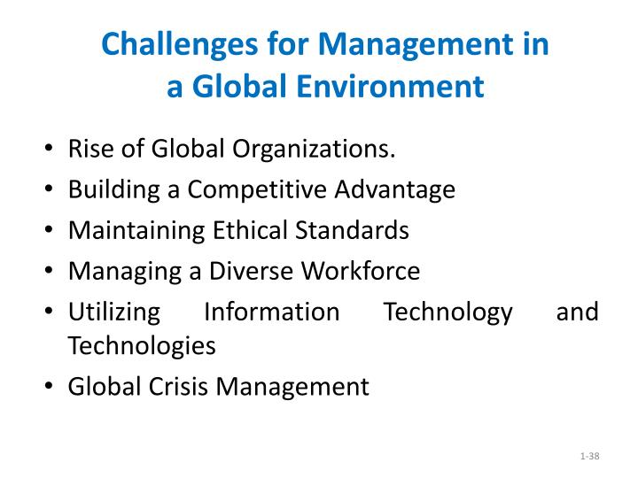 Challenges for Management in
