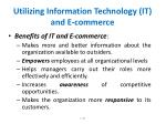 utilizing information technology it and e commerce