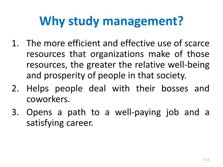 Why study management?