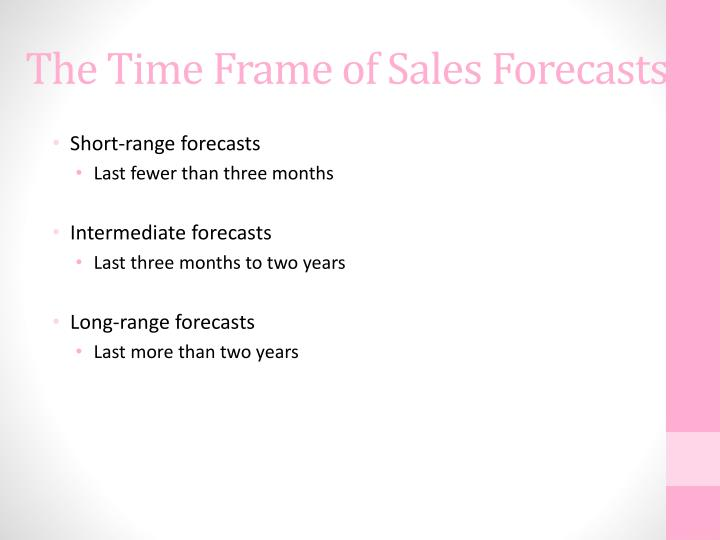 The Time Frame of Sales Forecasts